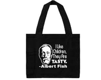 Albert Fish Serial Killer Quote True Crime Dark Humor Funny LOL Canvas Tote Bag Market Pouch Grocery Reusable Christmas Merch Massacre