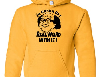 It's Always Sunny in Philadelphia Frank Reynolds Weird TV Funny Comedy Unisex Hoodie Pullover Hooded Sweatshirt Many Sizes Colors Custom