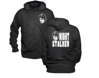Richard Ramirez Night Stalker Serial Killer True Crime Murder Hoodie Zip Up Hooded Sweatshirt Many Sizes Horror Halloween Merch Massacre