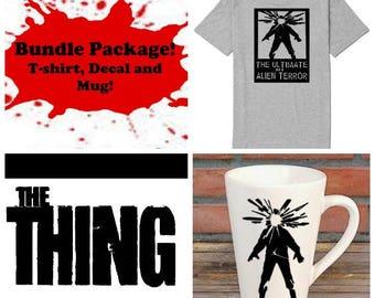 The Thing John Carpenter Bundle Gift Package Unisex Shirt Decal Mug Present Horror Lover Decor Halloween Merch Massacre
