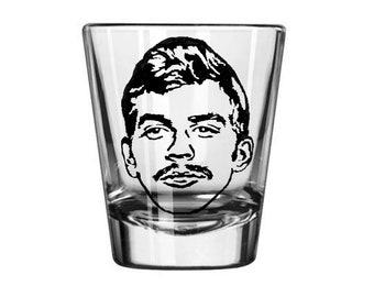 Jeffrey Dahmer Cannibal Serial Killer True Crime Criminal Murderer Shot Glass Horror Halloween Drinking Bar Gift for Him Her Merch Massacre