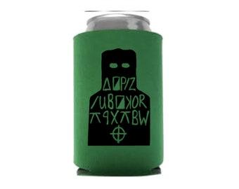 Zodiac Killer Cipher Code Serial Killer Murderer True Crime Halloween Horror Can Cooler Can Sleeve Bottle Holder Merch Massacre