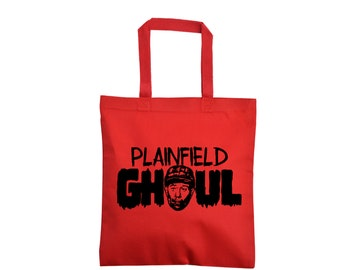 Ed Gein Plainfield Ghoul Serial Killer True Crime Cannibal Funny LOL Horror Canvas Tote Bag Grocery Merch Massacre Black Friday Christmas
