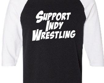 Pro Wrestling Support Indy Professional Funny Comedy Baseball Raglan 3/4 Sleeve Unisex T Shirt Clothes Wrestle Gear Athletic Merch Massacre