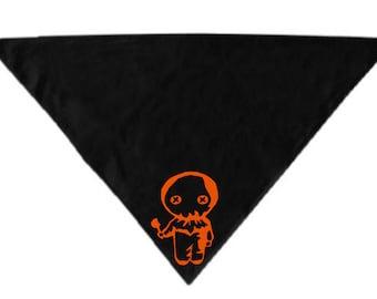 Sam Trick R Treat Pet Bandana Scarf Cat Dog Clothes Horror Halloween Accessories Merch Massacre