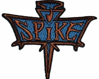 """Buffy The Vampire Slayer Spike Logo 3 1/4"""" Wide Embroidered Iron on Patch Supplies Merch Massacre"""