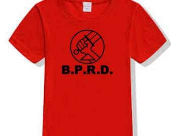 Hellboy Bureau of Paranormal Research and Defense BPRD T Shirt Clothes Many Sizes Colors Custom Horror Halloween Merch Massacre