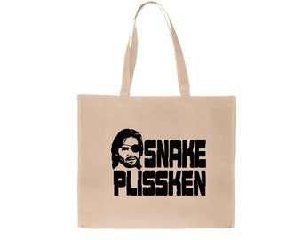 Escape New York Snake Plissken Sci Fi Action Science Fiction Funny Canvas Tote Bag Market Pouch Grocery Reusable Christmas Merch Massacre