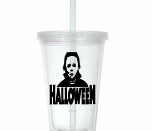 Michael Myers Halloween Tumbler Cup Gift Home Decor Gift for Her Him Any Color Personalized Custom Merch Massacre