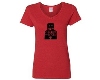 Zodiac Cipher Code Serial Killer True Crime Unsolved Ladies V Neck T Shirt Clothes Many Sizes Colors Custom Horror Halloween Merch Massacre