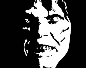 Exorcist Regan Horror Vinyl Car Decal Bumper Window Sticker Any Color Multiple Sizes Merch Massacre