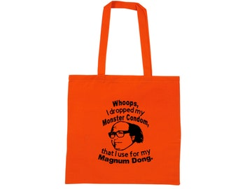 It's Always Sunny in Philadelphia Frank Reynolds Magnum Dong Funny Quote Raunchy Comedy LOL Canvas Tote Bag Market Grocery Merch Massacre