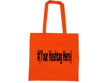 Social Media Hashtag Follow # @ Instagram Twitter Snapchat Custom Funny Canvas Tote Bag Market Pouch Merch Massacre Black Friday Christmas