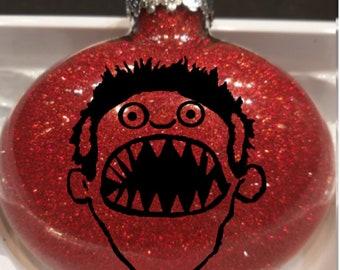 Evil Dead Ashy Slashy Boomstick Army Darkness Versus Hail King Baby Glitter Christmas Ornament Glass Disc Holiday Horror Merch Massacre