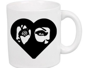 Childs Play Chucky Tiffany Love Horror Mug Coffee Cup Halloween Gift Home Decor Gift for Her Him Any Color Personalized Custom