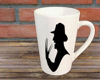 Freddy Krueger Nightmare on Elm Street Horror Mug Coffee Cup Halloween Gift Home Decor Kitchen Bar Gift for Her Him