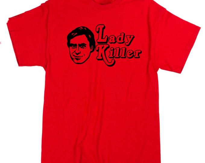 Featured listing image: Ted Bundy Serial Killer Ladies Man Lady True Crime Criminal Murder Unisex T Shirt Many Sizes Colors Custom Horror Halloween Merch Massacre