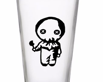 Sam Trick or Treat Horror Halloween Wine Pint Glass Tumbler Alcohol Drink Cup Barware Merch Massacre