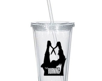 Burning Cropsy Slasher Camp Killer Eighties Horror Tumbler Cup Gift Home Decor Gift for Her Him Any Color Personalized Custom