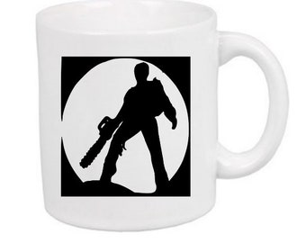 Evil Dead Ash Army of Darkness Horror Mug Coffee Cup Halloween Home Decor Bar Gift for Her Him Any Color Personalized Custom Merch Massacre