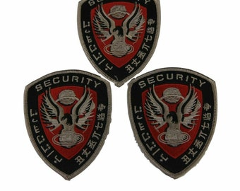 """Set of 3 Firefly Serenity Security Logo 4"""" Wide Embroidered Iron on Patch Supplies Merch Massacre"""
