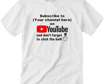 YouTube Subscribe Hashtag Follow # @  InstagramTwitter YouTube Funny LOL Kid Toddler Children T Shirt Sizes Colors Custom Merch Massacre