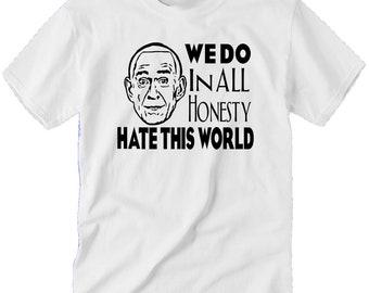Heaven's Gate Marshall Applewhite UFO Suicide Cult Dark Humor Funny Horror Unisex T Shirt Many Sizes Colors Custom Halloween Merch Massacre