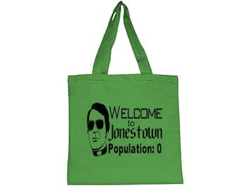 Jim Jones Jonestown Cult Leader True Crime Dark Humor Funny LOL Canvas Tote Bag Market Pouch Grocery Reusable Christmas Merch Massacre