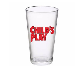 Childs Play Chucky Horror Pint Wine Glass Tumbler Alcohol Drink Cup Barware Halloween Merch Massacre