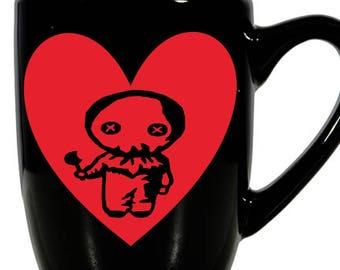 Trick or Treat Sam Valentine's Day Love Heart Horror Mug Coffee Cup Gift Home Decor Kitchen Halloween Bar