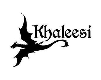 Khaleesi Mother of Dragons GOT Game of Thrones Daenerys Targaryen Horror Vinyl Car Decal Bumper Window Sticker Any Color Multiple Sizes