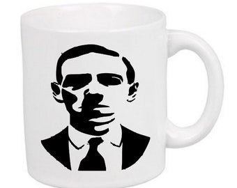 HP Lovecraft Author Horror Mug Coffee Cup Halloween Gift Home Decor Kitchen Bar Gift for Her Him Any Color Custom Merch Massacre