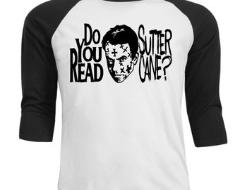 In the Mouth of Madness Have You Read Sutter Cane? Baseball Raglan 3/4 Sleeve T Shirt Unisex Clothes Horror Halloween Merch Massacre