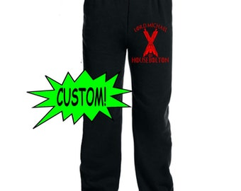 Game of Thrones GOT Custom Name House Stark Lannister Sweatpants Lounge Pajama Comfortable Comfy Unisex Kids Youth Clothes Merch Massacre