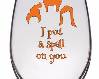 Spell on You Hocus Pocus Witch Horror Halloween Wine Pint Glass Tumbler Alcohol Drink Cup Barware Merch Massacre