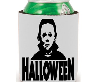 Halloween Michael Myers Slasher Babysitter Killer Slay Halloween Horror Can Cooler Can Sleeve Bottle Holder Merch Massacre
