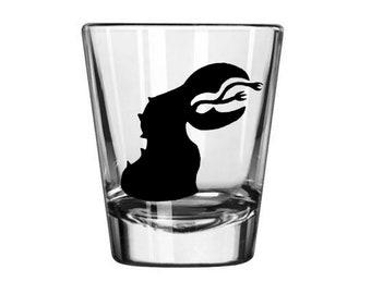 Tremors Graboid Graboids Monster Movie Sci Fi Burt Gummer Shot Glass Horror Halloween Drinking Bar Gift for Him Her Merch Massacre