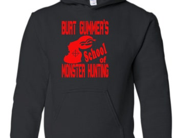 Tremors Burt Gummer Graboid Sci Fi Monster Hunter Unisex Hoodie Pullover Hooded Sweatshirt Many Sizes Colors Horror Halloween Merch Massacre