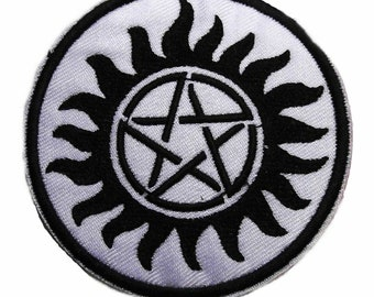 """Supernatural Anti Possession 3"""" Wide Embroidered Iron on Patch Supplies Merch Massacre"""