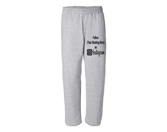 Social Media Instagram Hashtag # @ Follow Twitter Snapchat Custom Sweatpants Lounge Pajama Comfort Comfy Mens Womens Clothes Merch Massacre