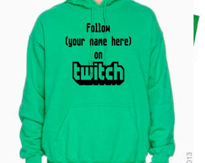 Featured listing image: Twitch Gamer Streamer Personalized Online Gaming Unisex Hoodie Pullover Sweatshirt Sizes Colors Custom Horror Halloween Merch Massacre