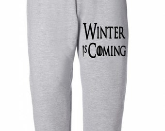 Game of Thrones GOT Winter is Coming Horror Sweatpants Lounge Pajama Comfortable Comfy Mens Womens Clothes Merch Massacre