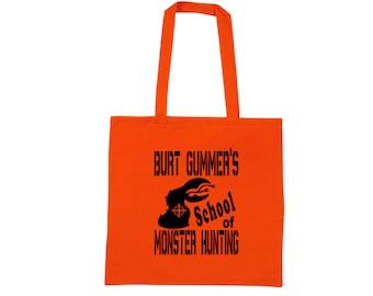 Tremors Graboid Burt Gummer Monster Hunting Hunter Humor Funny LOL Canvas Tote Bag Market Pouch Grocery Reusable Christmas Merch Massacre