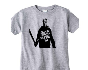 Jason Vorhees Friday the 13th Horror Kids Children T Shirt Many Sizes Colors Custom Horror Halloween Merch Massacre