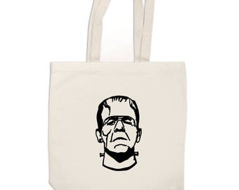 Frankenstein Monster Horror Canvas Tote Bag Market Pouch Grocery Reusable Merch Massacre Black Friday Christmas Merch Massacre