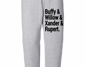 Buffy the Vampire Slayer Willow Xander Rupert Horror Sweatpants Lounge Pajama Comfortable Comfy Unisex Kids Youth Clothes Merch Massacre