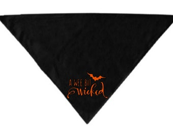Wee Bit Wicked Pet Bandana Scarf Cat Dog Clothes Horror Halloween Accessories Merch Massacre