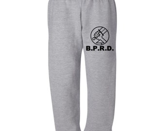 Hellboy Bureau of Paranormal Research and Defense BPRD Horror Sweatpants Lounge Pajama Comfy Unisex Kids Youth Clothes Merch Massacre
