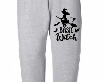 Basic Witch Halloween Horror Sweatpants Lounge Pajama Comfortable Comfy Unisex Kids Youth Clothes Merch Massacre