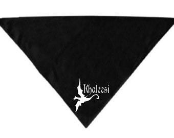 Khaleesi Mother of Dragons Game of Thrones GOT Pet Bandana Scarf Cat Dog Clothes Horror Halloween Accessories Merch Massacre